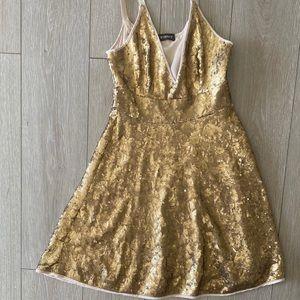 Twinset Golden payette summer dress